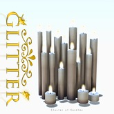 GLITTER - Cluster of Candles mesh