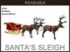 Wearable santa's sleigh box