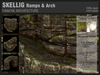 :Fanatik Architecture: SKELLIG Ramps & Arch - mesh sim building / landscaping kit - rock formation building prefab