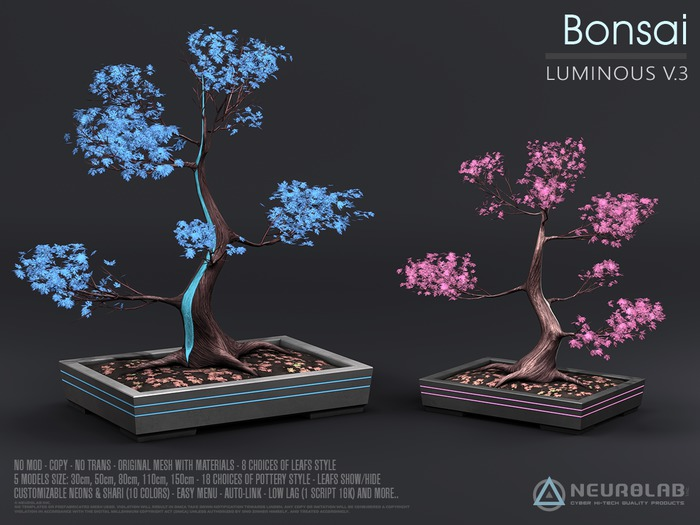 BONSAI Japanese Maple (Luminous) V.3 [NeurolaB Inc.]