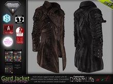 Gard Male Mens Gothic Leather Jacket Coat - Mesh - TMP, Adam, Slink, Aesthetic, Signature - FashionNatic