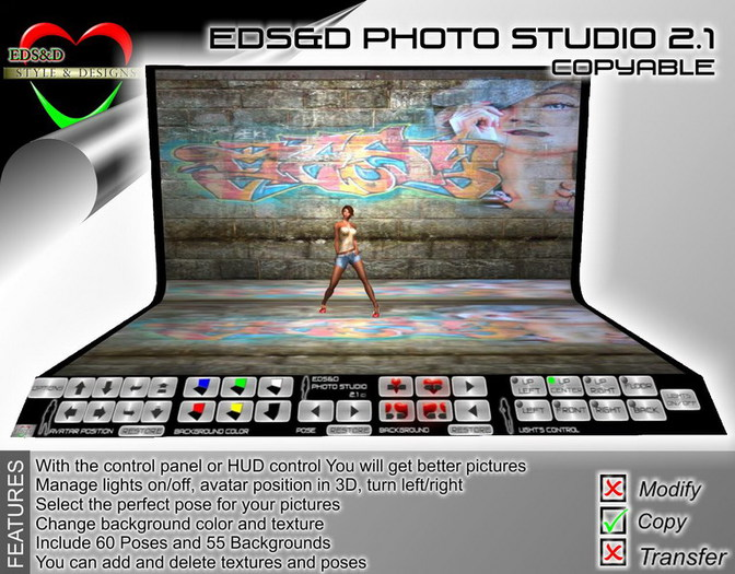 EDS&D Photo Studio 2.1[C] Add your own textures and poses