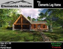 Elements Log Home