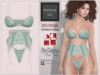 "BigBeautifulDoll JEZEBEL ""Cute"" Fit Fitted Mesh Lingerie Aquamarine Blue Green Maitreya Slink Physique Hourglass Belleza"