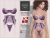 "BigBeautifulDoll JEZEBEL ""Cute"" Fit Fitted Mesh Lingerie Blackberry Purple Maitreya Slink Physique Hourglass Belleza"