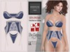 "BigBeautifulDoll JEZEBEL ""Cute"" Fit Fitted Mesh Lingerie Navy Blue Maitreya Lara Slink Physique Hourglass Belleza Lace"