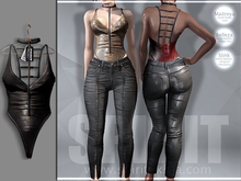 SPIRIT - Night bodysuit leather [BLACK]