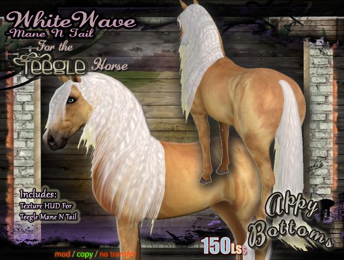 ~AppyBottoms~ Teegle WhiteWave Mane N Tail Set