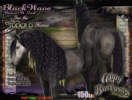 ~AppyBottoms~ Teegle BlackWave Mane N Tail Set