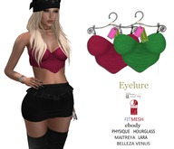 Eyelure Party Tops   2 -Pack   Green/Cranberry