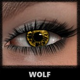 Mesh Eyes [Wolf - Yellow] (Galaxy) [With HUD]