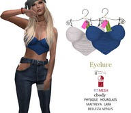 Eyelure Party Tops   2 -Pack   White/Blue