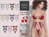 "BigBeautifulDoll JEZEBEL ""Cute"" Fit Fitted Mesh Lingerie - FAT PACK Maitreya Lara Slink Physique Hourglass Belleza Lace"