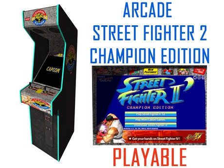Second Life Marketplace Gc Arcade Street Fighter 2 Champion