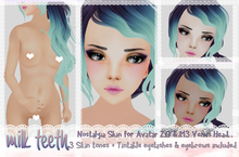 milk teeth. Nostalgia skin mod for Venus head - Three skin-tones, eyelashes, eyebrows and freckles INCLUDED