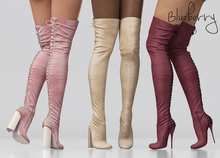 Blueberry - Cupcake - Thigh High Boots - Maitreya, Belleza (All), Slink Physique Hourglass - ( Mesh ) DEMO Pack
