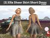 [S] Ella Sheer Skirt Short Dress Floral