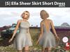 [S] Ella Sheer Skirt Short Dress White