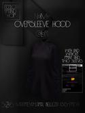 Ec.cloth - Oversleeve hood - Black (unpacked)