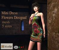 [in] Sanity  Mini Dress Flowers Desigual