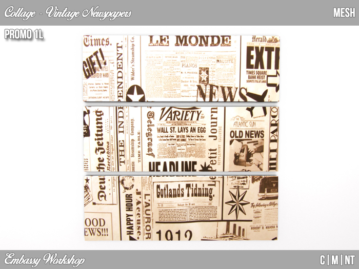 EW - Promo - Vintage Newspapers - Collage