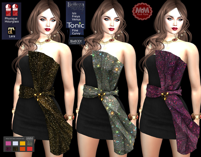 M&M-PARTY DRESS BLACK-D