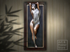 THE BATHER Bill Mack | Framed Bronze Relief Wall Hanging