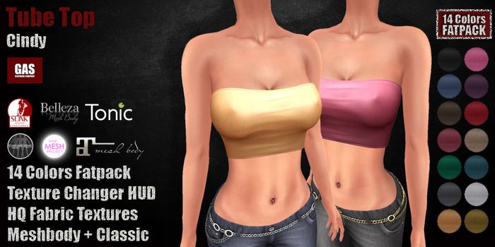 GAS [Tube Top Cindy - All 14 Colors w/HUD FATPACK]