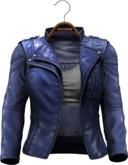!APHORISM! Easy Rider Jacket Blue - Women