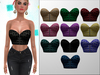 TRULY Wave Cropped Leather Bustier FATPACK