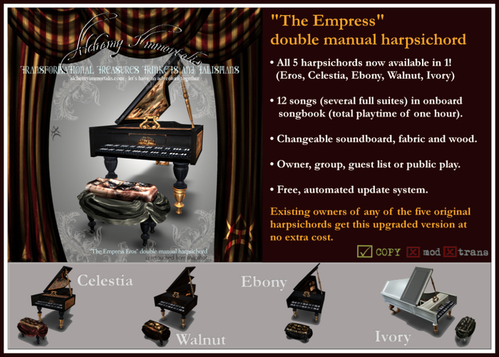 """The Empress III"" Double Manual Harpsichord - 5 in 1! $675 on sale for $325!"