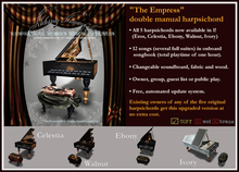 """""""The Empress III"""" Double Manual Harpsichord - 5 in 1! $675 on sale for $325!"""