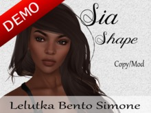"Sia Shape ""Lelutka Bento Simone Head"" Demo"