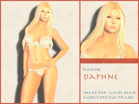 Kanon Female Shape - Daphne - For LeLutka Simone 2.0