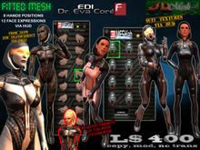 [Dr EDI] 3 Fitted mesh avatar w/ 12 faces and 8 hands each via HUD