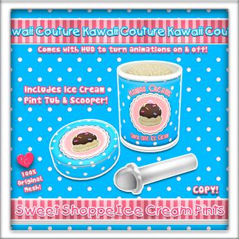 [: Kawaii Creams :] Ice Cream Pint - Vanilla V1