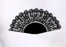 Black Animated Lace Fan