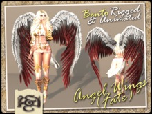 [EC] - Angel Wings (Fate) (White/Red) (BENTO - Animated) (M/F) (Regular, Small, & Child Sizes)