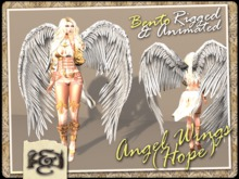 [EC] - Angel Wings (Hope) (White) (BENTO - Animated) (M/F) (Regular, Small, & Child Sizes)