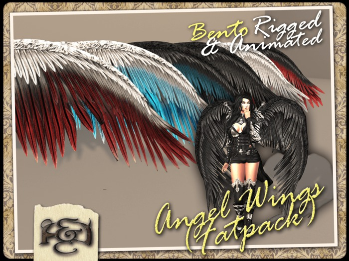 [EC] - Angel Wings (BENTO - Animated) FATPACK (M/F) (Regular, Small, & Child Sizes)