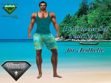 EC Beachwear Teal Turtle [Aesthetic]
