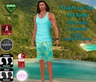 EC Beachwear Teal Turtle [Mens]