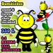 [Screwball Cartoon Avatars] Bumblebee Miniature Avatar - Micro Avatar