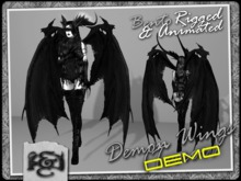 [EC] - Demon Wings DEMO (BENTO - Animated) (M/F) (Regular, Small, & Child Sizes)