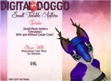 [Digital Doggo] Small Mesh Antlers (Tintable)