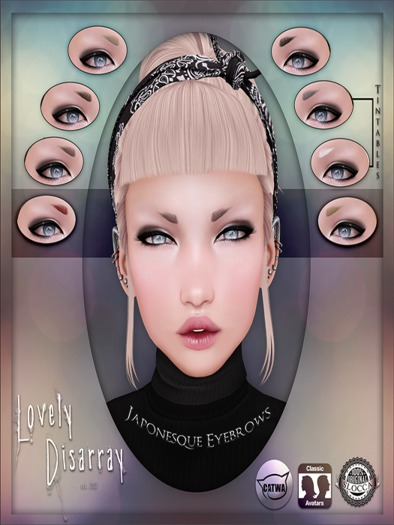 Lovely Disarray - Japonesque Eyebrows [Unisex] BN17-January