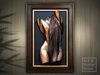 BATHER, FEMALE TORSO Bill Mack | Sophisticated Framed Bronze Relief Wall Hanging