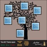 [A-U] Deco :: Tree with 7 frames square
