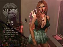 Artizana - Ijalu (Green) - Mesh Dress