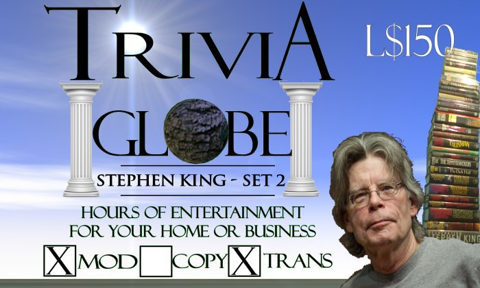 Stephen King 2 Trivia Globe